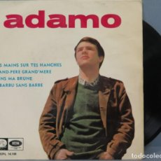 Discos de vinilo: EP. ADAMO MES MAINS SUR TES HANCHES. Lote 194623132