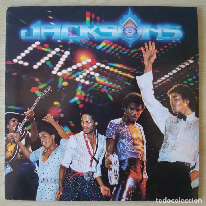 THE JACKSONS : LIVE - DOBLE LP ORIGINAL ESPAÑA 1981 EPIC - MICHAEL JACKSON (Música - Discos - LP Vinilo - Funk, Soul y Black Music)