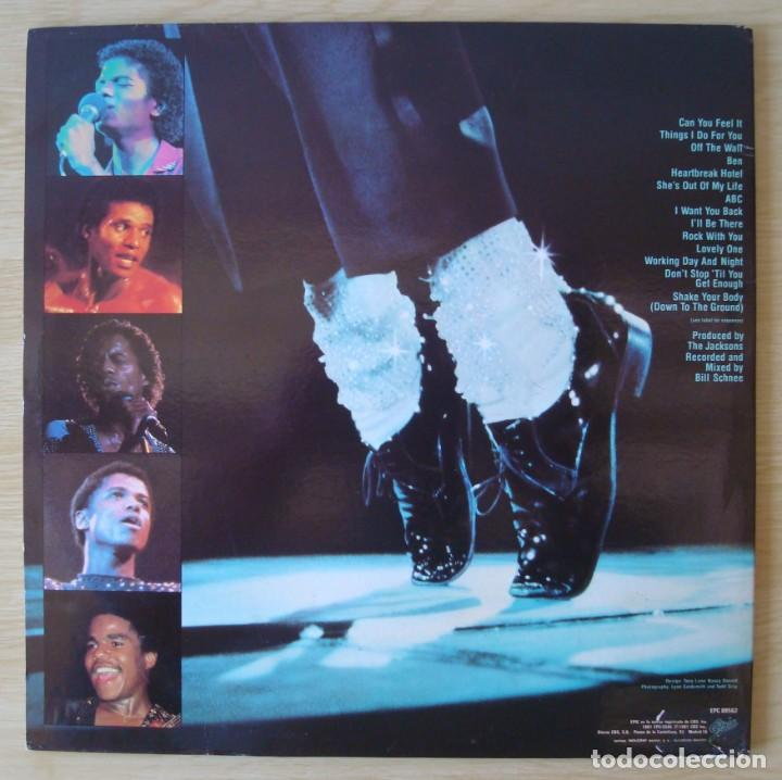 Discos de vinilo: THE JACKSONS : LIVE - DOBLE LP ORIGINAL ESPAÑA 1981 EPIC - MICHAEL JACKSON - Foto 3 - 194624055