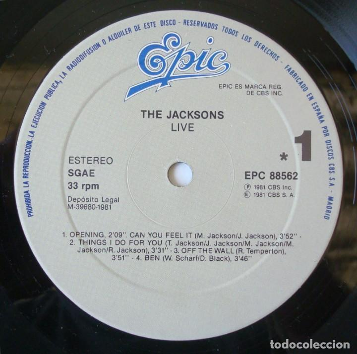 Discos de vinilo: THE JACKSONS : LIVE - DOBLE LP ORIGINAL ESPAÑA 1981 EPIC - MICHAEL JACKSON - Foto 5 - 194624055