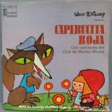 Discos de vinilo: SINGLE. CAPERUCITA ROJA CON CANCIONES DEL CLUB DE MICKEY MOUSE. Lote 194624481