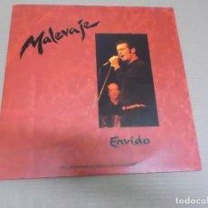 Discos de vinilo: MALEVAJE (LP) ENVIDO AÑO – 1991 – DOBLE DISCO CON PORTADA ABIERTA. Lote 194625096