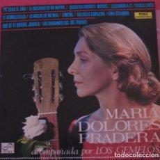 Discos de vinilo: MARIA DOLORES PRADERA ACOMPAÑADA POR LOS GEMELOS - LP SPAIN 1972. Lote 194626156