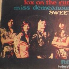 Discos de vinilo: SWEET-FOX ON THE RUN. Lote 194626850