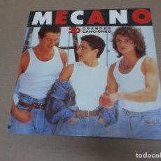 Discos de vinilo: MECANO (LP) 20 GRANDES CANCIONES AÑO – 1989 – DOBLE DISCO CON PORTADA ABIERTA. Lote 194627391