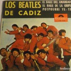 Discos de vinilo: LOS BEATLES DE CADIZ-EL BAILE DEL AMARGAO. Lote 194627461