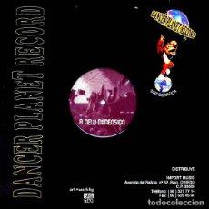 Discos de vinilo: MAXI HITCH HIKER & JACQUES DUMONDT – A NEW DIMENSION - DANCER PLANET RECORD – DPR-13-MX - 1996. Lote 194628908