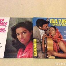 Discos de vinilo: LOLA FLORES - LOTE DE DOS EPS. Lote 194629371