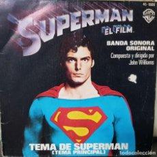 Discos de vinilo: SUPERMÁN - SINGLE EL FILM - BANDA SONORA ORIGINAL - EDICIÓN ESPAÑOLA 1979. Lote 194630278