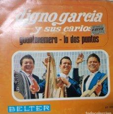 Discos de vinilo: EL PARAGUAYO DIGNO GARCÍA Y SUS CARIOS - GUANTANAMERA - LA DOS PUNTAS - BELTER ED. ESPAÑA - 1967. Lote 194630912