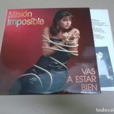 Discos de vinilo: MISION IMPOSIBLE (LP) VAS A ESTAR BIEN AÑO – 1987 – HOJA CON LETRAS. Lote 194633881