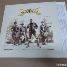 Discos de vinilo: MONTANA (LP) MONTANA AÑO – 1989 – ENCARTE CON LETRAS. Lote 194634377