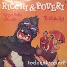 Discos de vinilo: RICCHI E POVERI PUBBLICITA LP SPAIN 1988. Lote 194637220