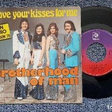 Discos de vinilo: BROTHERHOOD OF MAN - SAVE YOUR KISSES FOR ME / LET´S LOVE TOGETHER.EDITADO POR PYE RECORDS.AÑO 1.976. Lote 194637223