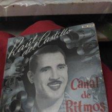 Discos de vinilo: RAÚL DEL CASTILLO. CANAL DE RITMOS. Lote 194638283