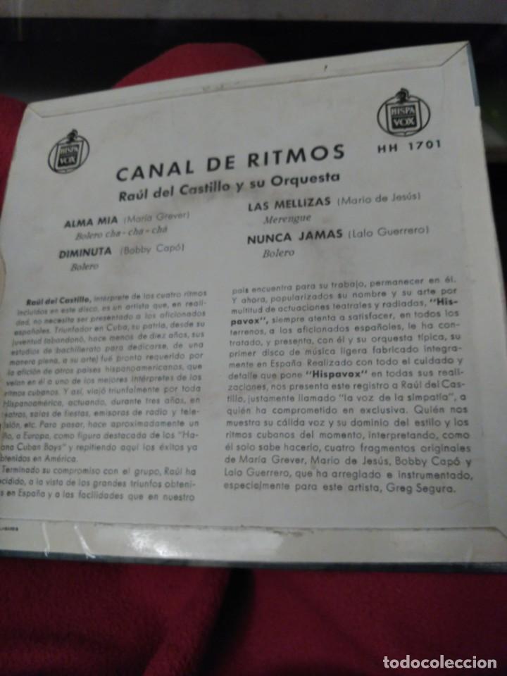 Discos de vinilo: Raúl del Castillo. Canal de ritmos - Foto 2 - 194638283