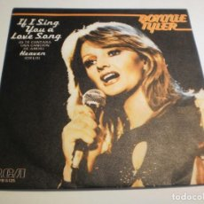 Discos de vinilo: SINGLE BONNIE TYLER. IF I SING YOU A LOVE SONG. HEAVEN. RCA 1978 SPAIN (PROBADO Y BIEN). Lote 194639990