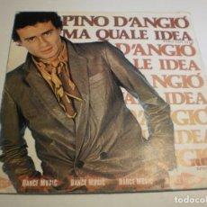 Discos de vinilo: SINGLE PINO D'ANGIÓ. MA QUALE IDEA. LEZIONE D'AMORE. RCA 1980 SPAIN (PROBADO Y BIEN, BUEN ESTADO). Lote 194640330