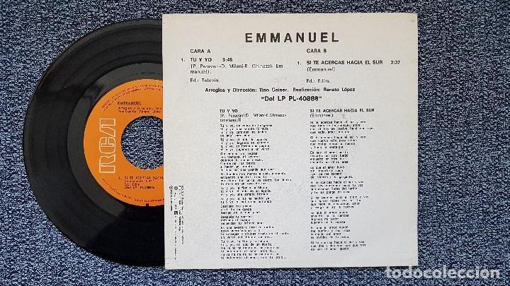 Discos de vinilo: Emmanuel - Tú y yo / Si te acercas hacia el sur. editado por RCA. año 1.982 - Foto 2 - 194640362