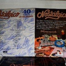 Discos de vinilo: NOSTALGICO 40 AÑOS DE LOS SESENTA. Lote 194650530