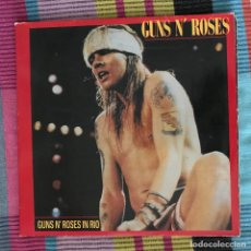 Discos de vinilo: GUNS N'ROSES - IN RIO - LP DOBLE DEEP RECORDS 1991. Lote 194652393