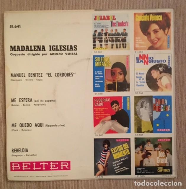 Discos de vinilo: MADALENA IGLESIAS - 1966 - Foto 2 - 194653735
