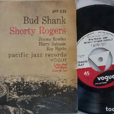 Discos de vinilo: BUD SHANK. SHORTY ROGERS. JIMMY ROWLES.ROY HARTE... CASA DE LUZ.LOTUS BUD. EP ORIGINAL UK VOGUE. Lote 194654733