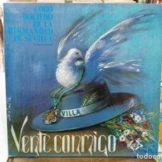 Discos de vinilo: CORO ROCIERO HDAD DE SEVILLA (SEVILLANAS) - VENTE CONMIGO - LP. DEL SELLO COLISEUM 1987. Lote 194656990