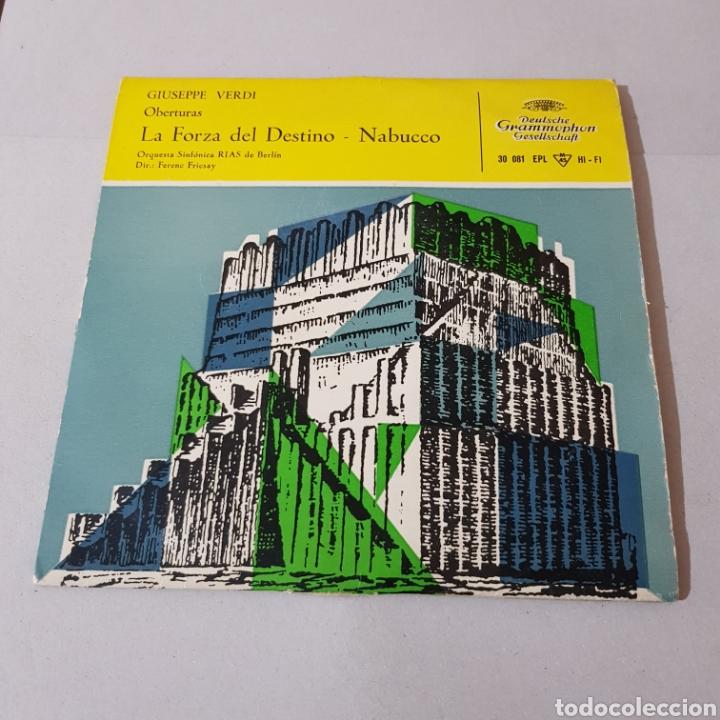 Discos de vinilo: GIUSEPPE VERDI - LA FORZA DEL DESTINO - NABUCCO - DIR FENEC FRICSAY- ORQUESTA SINFONICA DE BERLIN - Foto 5 - 194657023