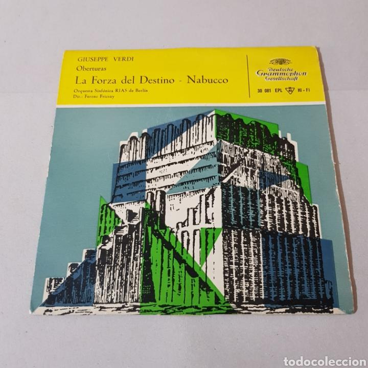 GIUSEPPE VERDI - LA FORZA DEL DESTINO - NABUCCO - DIR FENEC FRICSAY- ORQUESTA SINFONICA DE BERLIN (Música - Discos - Singles Vinilo - Clásica, Ópera, Zarzuela y Marchas)