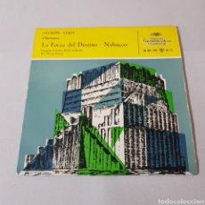 Discos de vinilo: GIUSEPPE VERDI - LA FORZA DEL DESTINO - NABUCCO - DIR FENEC FRICSAY- ORQUESTA SINFONICA DE BERLIN. Lote 194657023
