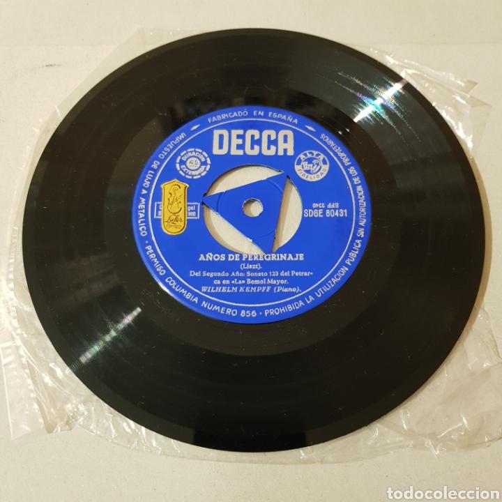 Discos de vinilo: WILHELM KEMPFF - ARABESQUE OP. 18 - AÑOS DE PEREGRINAJE ( MUSICA PARA PIANO ) - Foto 3 - 194657473