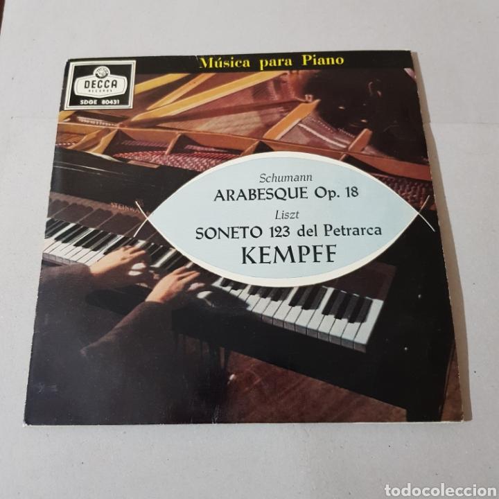 Discos de vinilo: WILHELM KEMPFF - ARABESQUE OP. 18 - AÑOS DE PEREGRINAJE ( MUSICA PARA PIANO ) - Foto 5 - 194657473