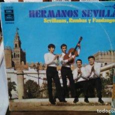 Discos de vinilo: HERMANOS SEVILLA - SEVILLANAS, RUMBAS Y FANDANGOS - LP. SELLO REGAL 1971. Lote 194657696
