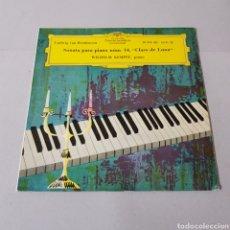 Discos de vinilo: BEETHOVEN - SONATA PARA PIANO NUM. 14 ( CLARO DE LUNA ) WILHELM KEMPFF. Lote 194657838
