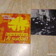Discos de vinilo: DANZA INVISIBLE-DOS MAXI SINGLE 12* MAXI-AL AMANECER MAXI ! A SUDAR! REMIX-MUY RARO 1996 DIFICIL. Lote 194659988