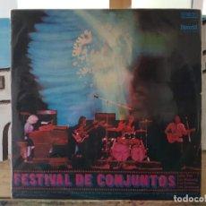 Discos de vinilo: ** FESTIVAL DE CONJUNTOS (LONE STAR, MUSTANG, DIABLOS, JAVALOYAS) - LP 1971 - LEER DESCRIPCIÓN. Lote 194664771