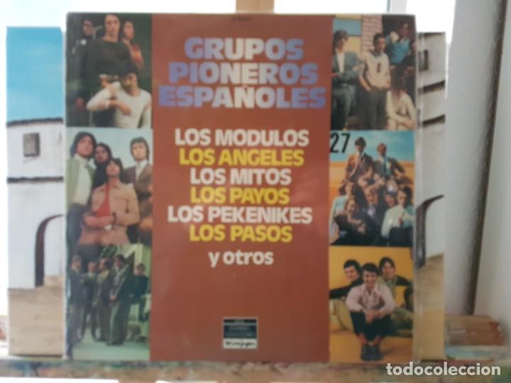 ** GRUPOS PIONEROS ESPAÑOLES (LOS PASOS, SOLERA, LOS ÁNGELES...) DOBLE LP 1978 - LEER DESCRIPCIÓN (Música - Discos - LP Vinilo - Grupos Españoles 50 y 60)