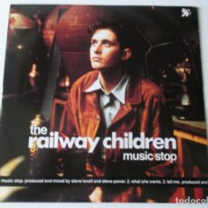 Discos de vinilo: THE RAILWAY CHILDREN, MUSIC STOP, WHAT SHE WANTS, TELL ME,1990 ED INGLESA. Lote 194673935