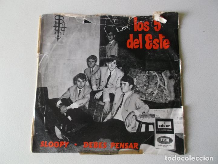 LOS 5 DEL ESTE, SLOOPY,DEBES PENSAR, ODEON 1966 (Música - Discos - Singles Vinilo - Grupos Españoles 50 y 60)