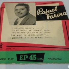 Discos de vinilo: RAFAEL FARINA. GITANITA GITANITA / SÓLO MANDA EL CORAZÓN. EP. Lote 194674481