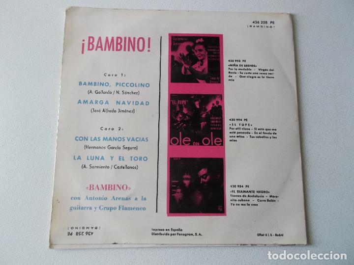 Discos de vinilo: BAMBINO,BAMBINO, PICCOLINO - Foto 2 - 194674996