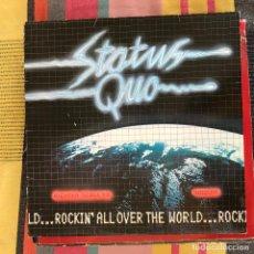 Discos de vinilo: STATUS QUO - ROCKIN' ALL OVER THE WORLD - LP VERTIGO UK 1977. Lote 194675106