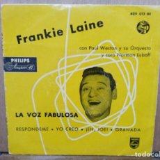 Discos de vinilo: FRANKIE LAINE - EH, JOE, GRANADA, RESPÓNDEME... - EP. DEL SELLO PHILIPS 1958. Lote 194675308