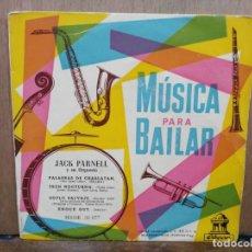 Discos de vinilo: JACK PARNELL - PALABRAS DE CHARLANTÁN, TREN NOCTURNO, SOPLO SALVAJE... - EP. SELLO ODEON. Lote 194675832