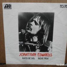 Discos de vinilo: JONATHAN EDWARS - RAYO DE SOL / NIEVE FRÍA - SINGLE DEL SELLO ATLANTIC 1972. Lote 194676010