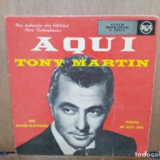 Discos de vinilo: TONY MARTIN - AQUÍ, EXTRAÑO EN EL PARAÍSO, FILOSOFÍA... - EP. DEL SELLO RCA. Lote 194676703