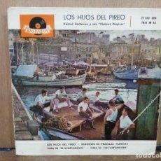 Discos de vinilo: LOS HIJOS DEL PIREO - TEMA DE ``EL APARTAMENTO´´, TEMA DE ``THE UNFORGIVEN... - EP. POLYDOR 1960. Lote 194679518