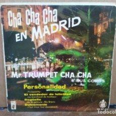 Discos de vinilo: MR. TRUMPET CHA CHA - PERSONALIDAD, EL VENDEDOR DE FELICIDAD... - EP. HISPAVOX 1960. Lote 194679770