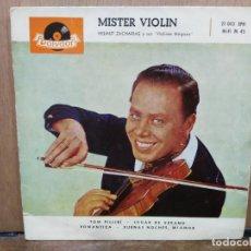 Discos de vinilo: MISTER VIOLÍN - TOM PILLIBÍ, ROMÁNTICA, BUENAS NOCHES, MI AMOR... - EP. DEL SELLO POLYDOR 1960. Lote 194679975